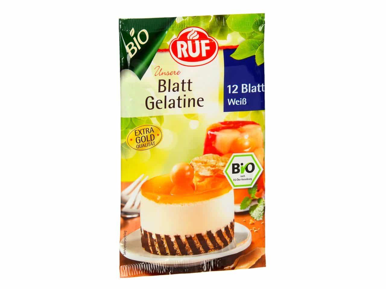 RUF Bio Blatt Gelatine Weiß 20 g