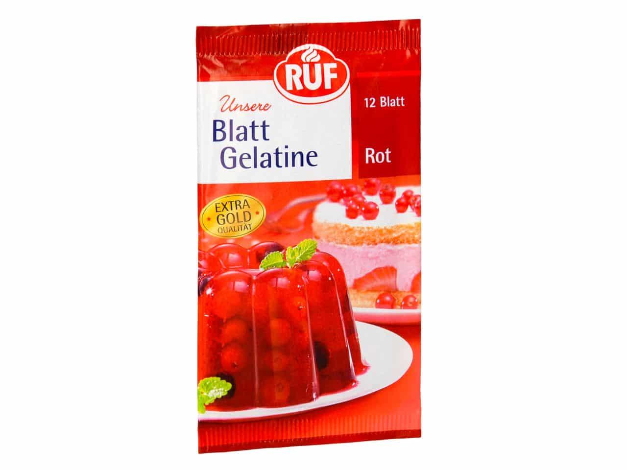 RUF Blatt Gelatine Rot 20 g V01