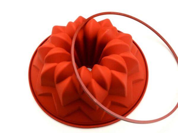 Silikonform groß Sterngugelhupf V02