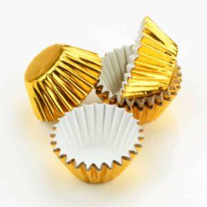 Pralinenkapseln 25 mm gold 60 Stück V01