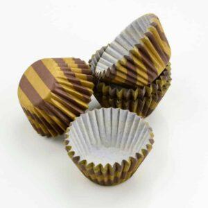 Pralinenkapseln 25 mm mocca-gold 100 Stück V01