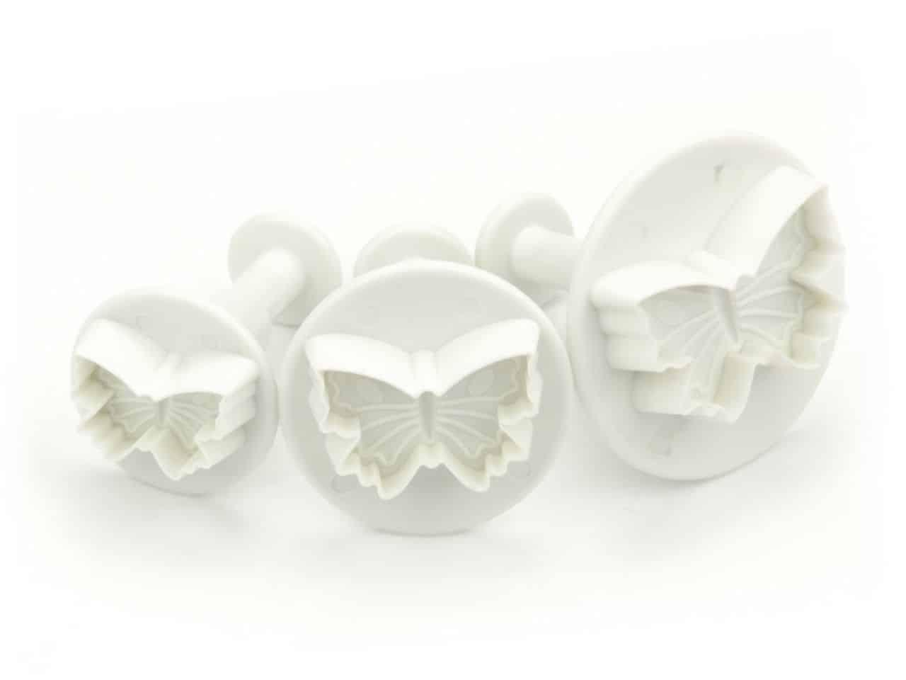 Ausstecher + Stempel Schmetterling 3er V01