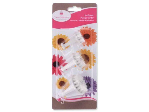 Ausstecher + Stempel Sonnenblume 3er V02