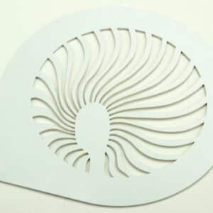 Schablone Fächer 15 cm