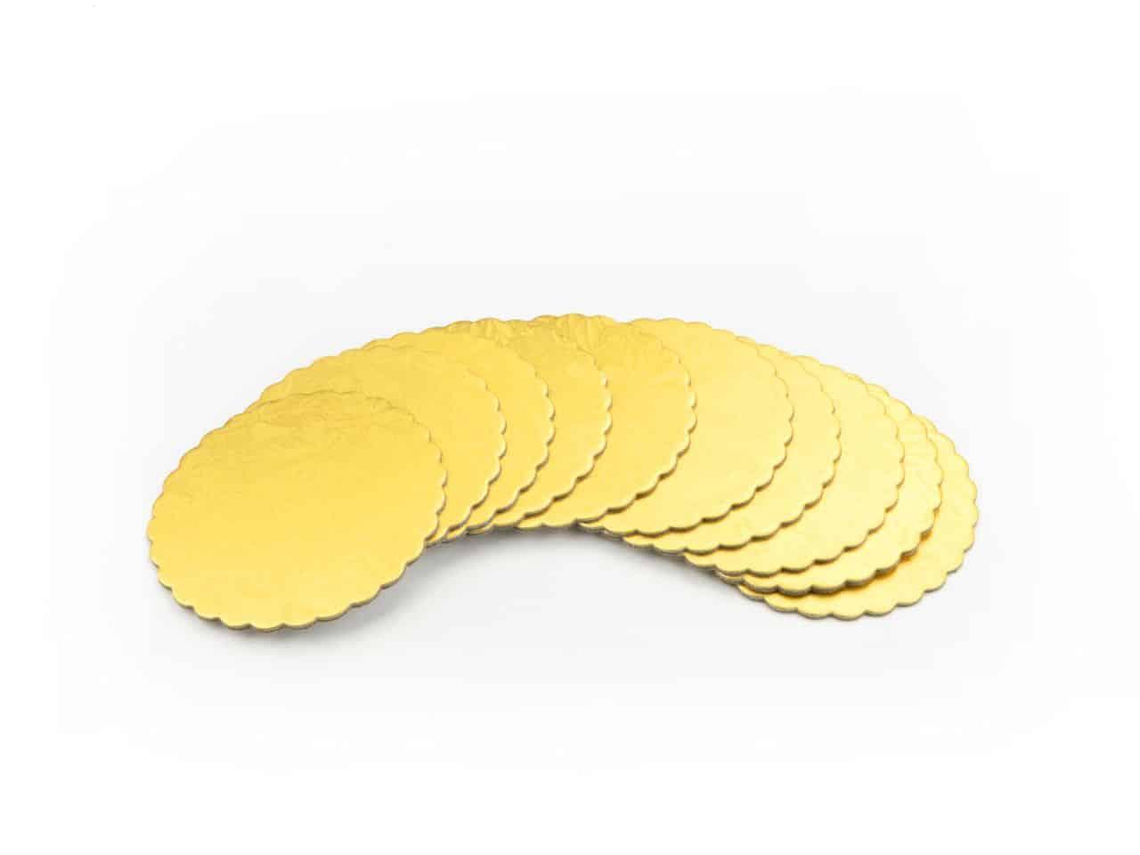 Cakeboard 10 cm gold 10 Stück V01