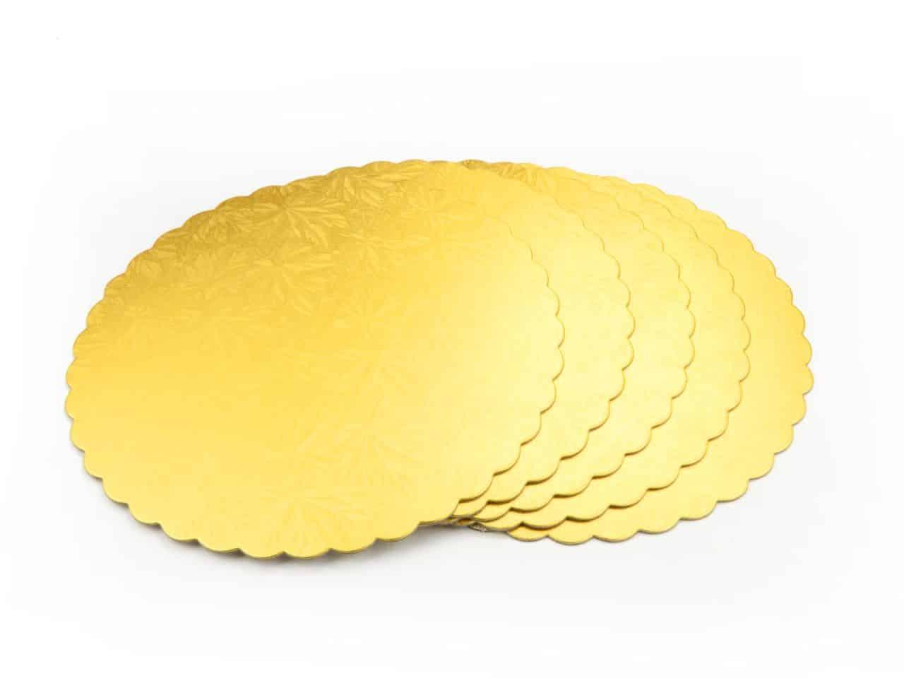 Cakeboard 22 cm gold 5 Stück V01