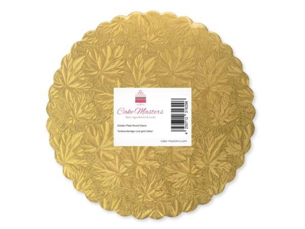 Cakeboard 22 cm gold 5 Stück V02