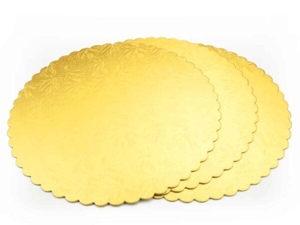 Cakeboard 28 cm gold 3 Stück V01