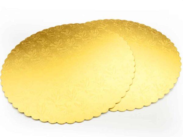 Cakeboard 34 cm gold 2 Stück