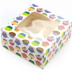 Cupcake Box Törtchen für 4 Stück 2er Set V01