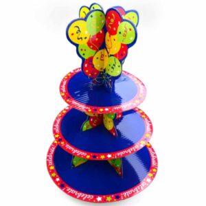 Cupcake Etagere Happy Birthday V01