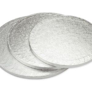 Cakeboard rund 18 cm silber V01