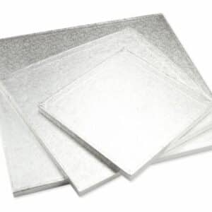 Cakeboard quadrat 20 cm silber V01