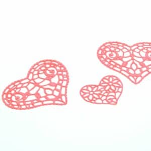 Spitzendekor-Matte Hearts V01