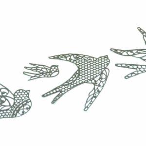 Spitzendekor-Matte Birds V01