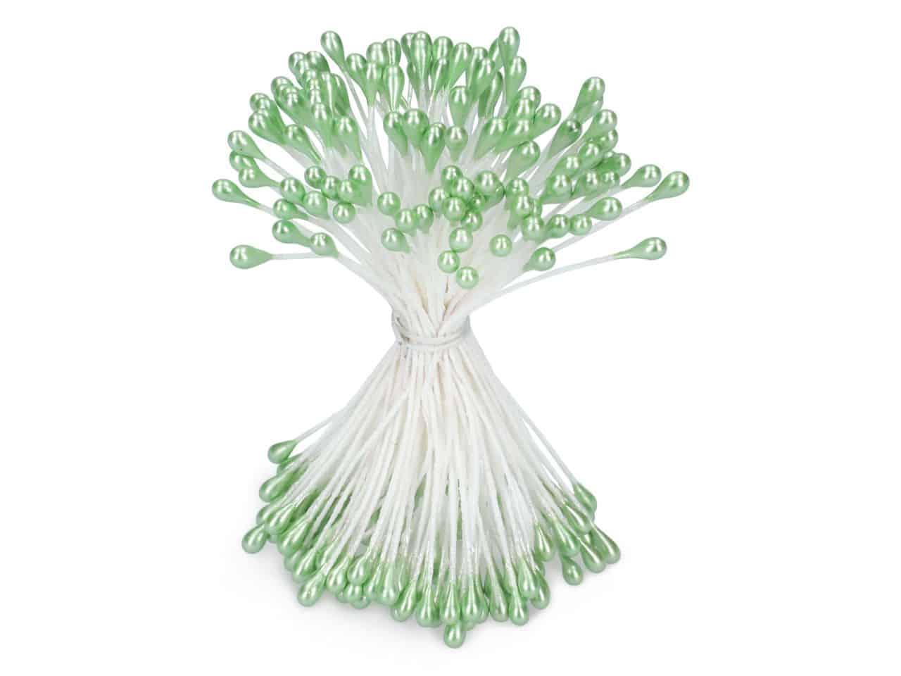 Staubblüten grün 120 Stück V01