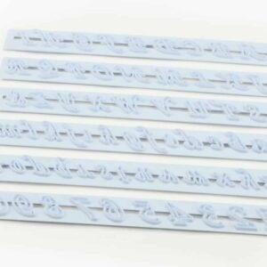 Buchstaben-Ausstecher Set Kunststoff V01