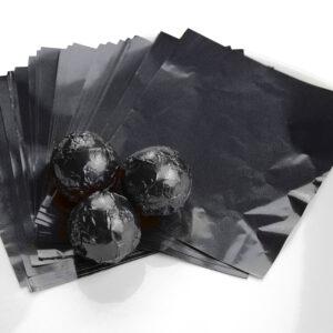 Wickelfolie schwarz 50 Blatt