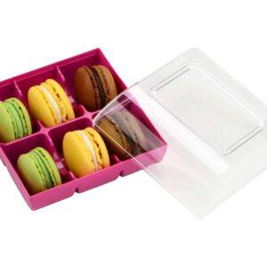 Macaron Verpackung fuchsia 6er V01