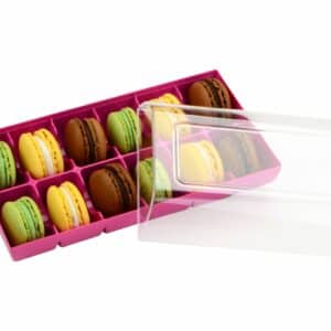 Macaron Verpackung fuchsia 12er 01