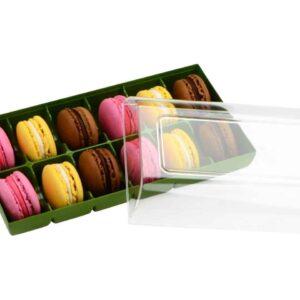 Macaron Verpackung grün 12er V01