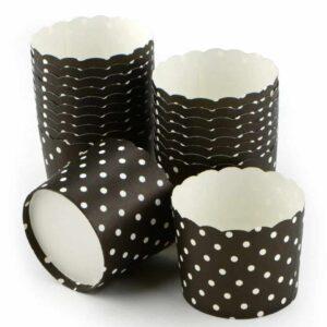 Cupcake Cup groß schwarz 20 Stück V01