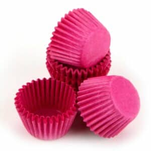 Pralinenkapseln 25 mm pink 100 Stück V01
