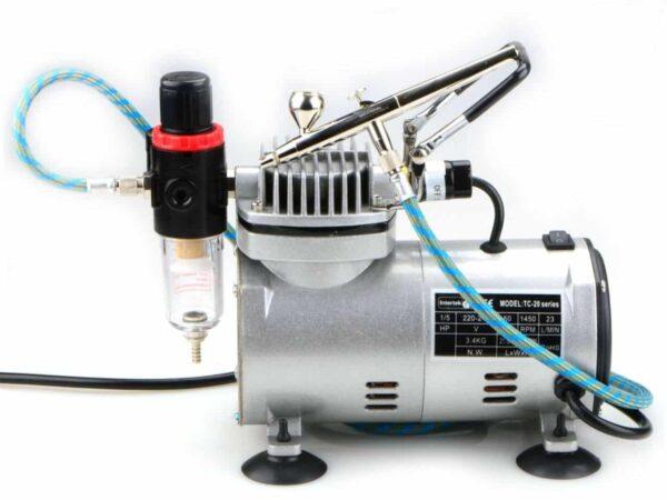 Airbrush-Set Kompressor und Pistole