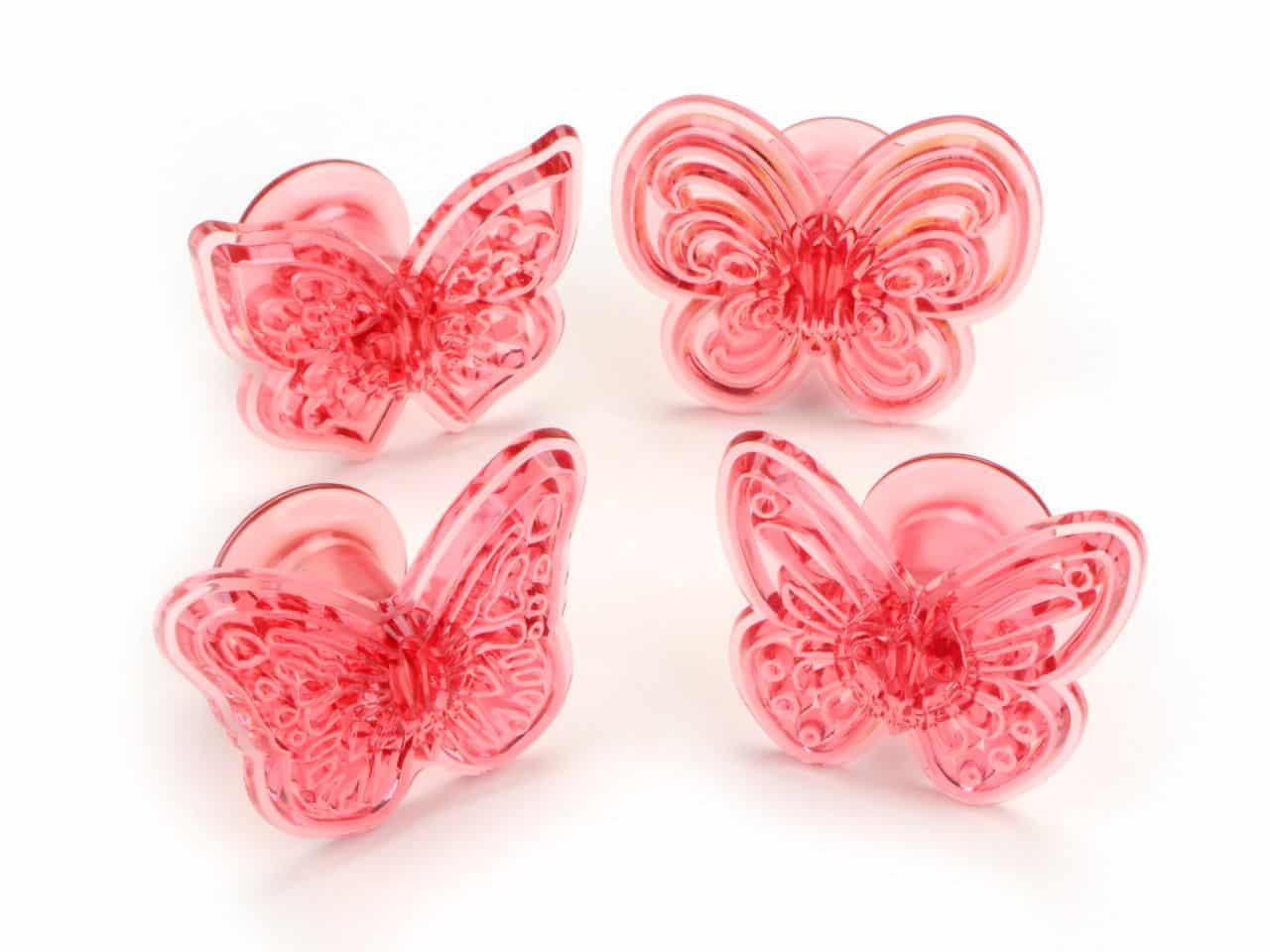 Ausstecherset Schmetterlinge 4er