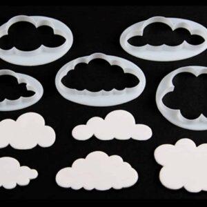Ausstecherset Wolken 5er V01