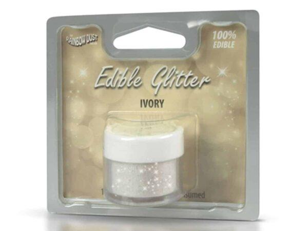 Glitzerpulver essbar ivory - elfenbein 5 g V02
