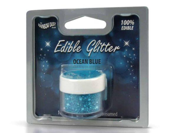 Glitzerpulver essbar ocean blue - blau 5 g V02