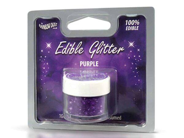 Glitzerpulver essbar purple - violett 5 g V02