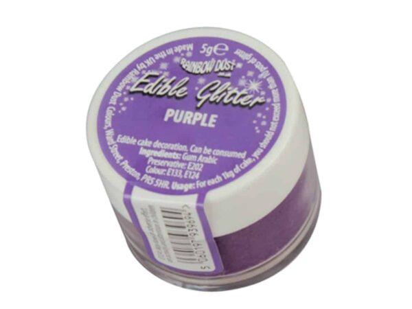 Glitzerpulver essbar purple - violett 5 g V03