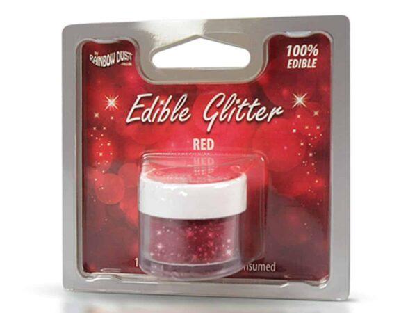 Glitzerpulver essbar red - rot 5 g V02