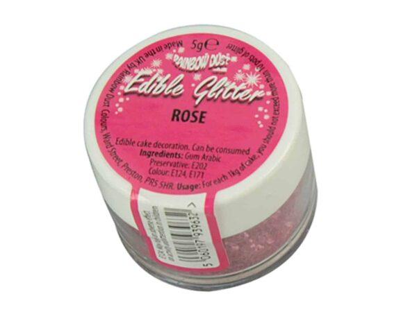 Glitzerpulver essbar rose - pink 5 g V03