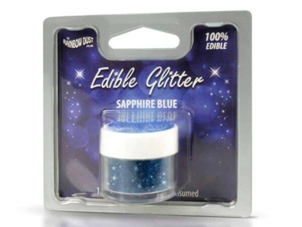 Glitzerpulver essbar sapphire-blue - blau 5 g V02