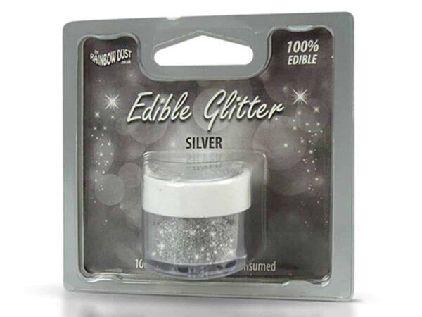 Glitzerpulver essbar silver - Silber 5 g V02