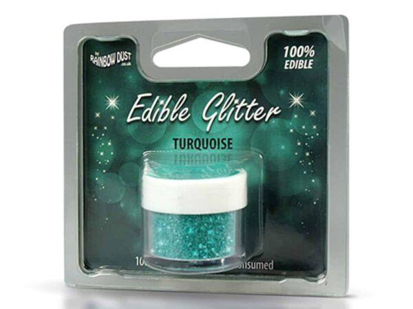 Glitzerpulver essbar turquoise - türkis 5 g V02
