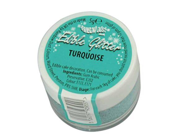 Glitzerpulver essbar turquoise - türkis 5 g V03