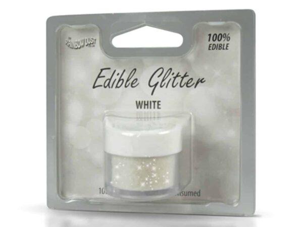 Glitzerpulver essbar white - weiß 5 g V02