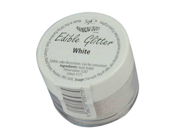 Glitzerpulver essbar white - weiß 5 g V03