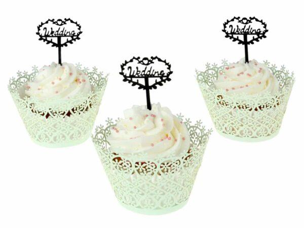 Cupcake Topper Wedding V02