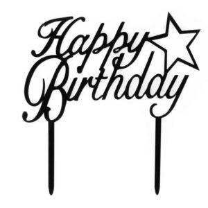 Cake Topper Happy Birthday v01