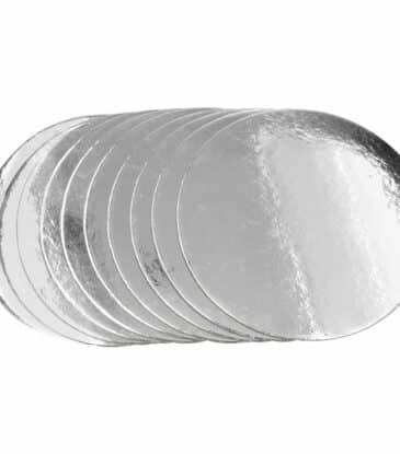 Silver Plate 28 cm silber glänzend 5 Stück