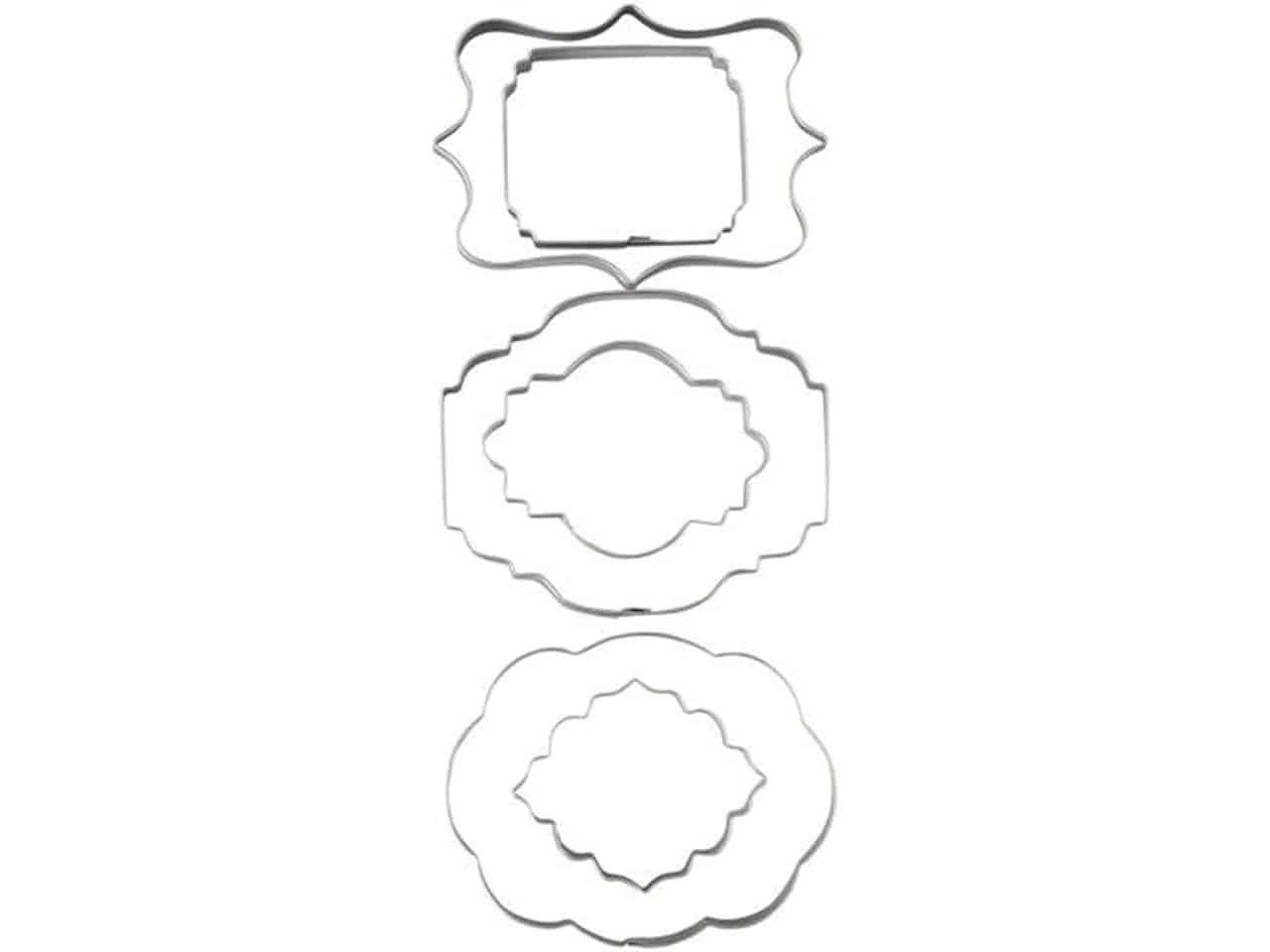 Wilton Plaque Fondant Cut-Outs Set V01