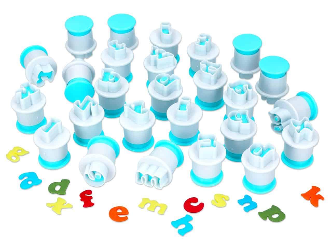 Ausstecher + Stempel Alphabet Kleinbuchstaben 26er V01