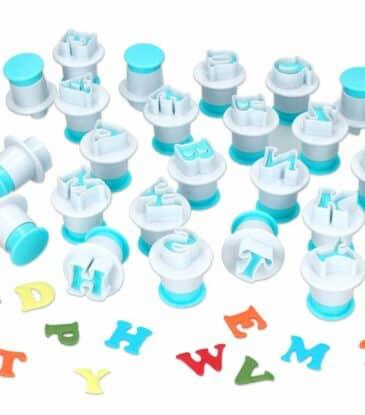 Ausstecher + Stempel Alphabet Großbuchstaben 26er