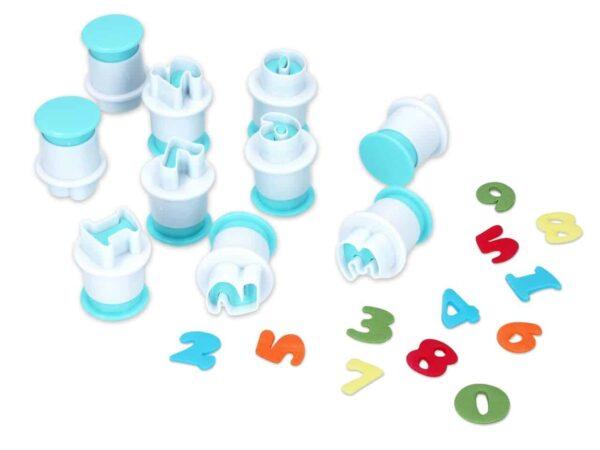 Ausstecher + Stempel Zahlen 0-9 10er V01