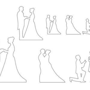 Patchwork Cutter Hochzeit Set V01